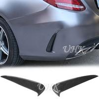 UHK Carbon Fiber Rear Bumper Side Vent On Canard Spoiler For Mercedes Benz C Class w205 C180 C200 C250 C300 Sedan 4&2 Door Coupe