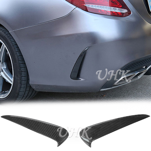UHK Carbon Fiber Rear Bumper Side Vent On Canard Spoiler For <font><b>Mercedes</b></font> Benz C Class w205 C180 C200 C250 <font><b>C300</b></font> Sedan 4&2 Door <font><b>Coupe</b></font> image