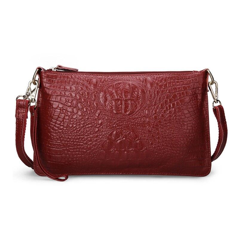 2017 Women Messenger Bags Leather Fashion Women Crossbody Bag Shoulder Bags for women Crocodile Pattern Vintage Clutch