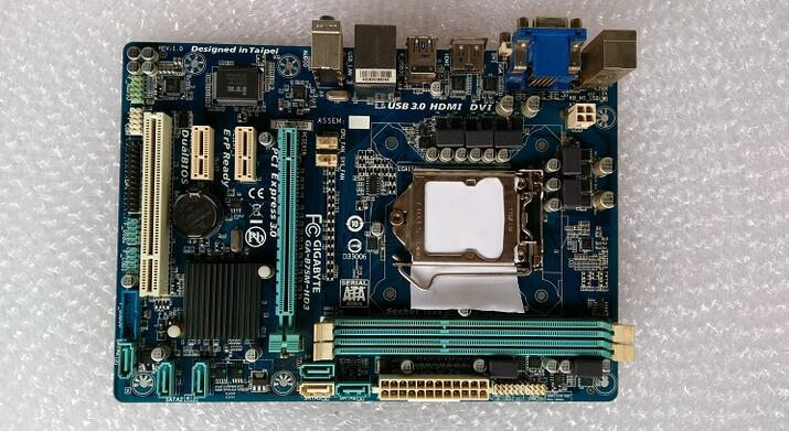Free shipping original motherboard for Gigabyte GA-B75M-HD3 LGA1155 DDR3 16G B75 motherboard integrated graphics USB3.0 original motherboard ga g41mt s2 lga 775 ddr3 g41mt s2 8gb fully integrated g41 free shipping