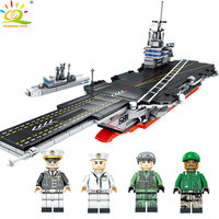 716pcs Military warship with Weapon Figures Building Blocks Compatible legoed Boat Soldiers Bricks Educational Toy for Children