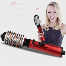 2 in 1 Multifunctional Hair Dryer Curling Comb Professional Roller Rotate Styler Straightening Hot Air