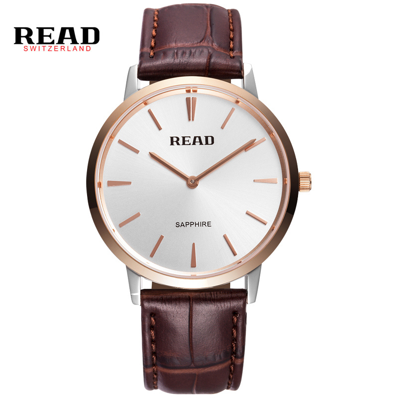 READ men watch Luxury Genuine Calf Leather ultrathin Lovers Watches Business And Casual Quartz Wristwatch PR54 segal business writing using word processing ibm wordstar edition pr only