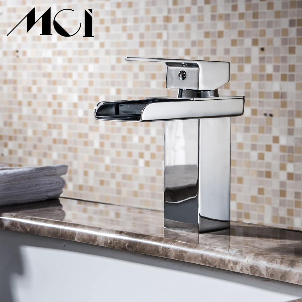 Salle de bain cascade robinet à LED. Robinet de lavabo en laiton avec cascade en verre. Mitigeur salle de bain robinet pont monté bassin sin Torneira Cozinha - 2