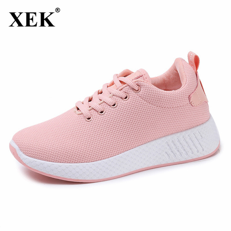 Comfortable women sneakers air mesh spring/autumn Sports shoes solid black/white/pink female Run shoes zapatillas mujer JDD24