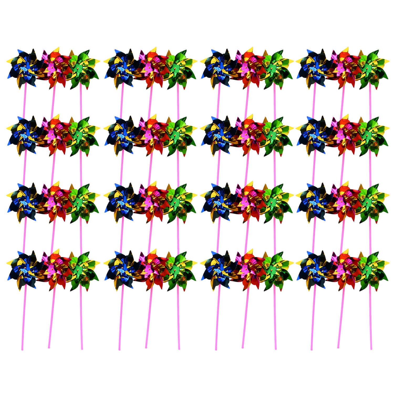 30 шт. DIY милые цветные виндфрезы ветряная мельница для детей игрушка садовый газон Декор Свадебные украшения для вечеринки 36,5 см
