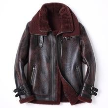 Men's Genuine Leather Clothing 2016 Winter Sheepskin Short Section Full Pelt Double-faced Fashion Coat Turn-down Collar GSJ348