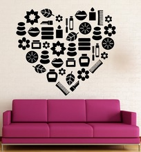 цена на Removable Creative Love Pattern Wall Stickers Home Decoration Beauty Spa Women Vinyl Decals  Art  Mural Wall Stickers  GW-79