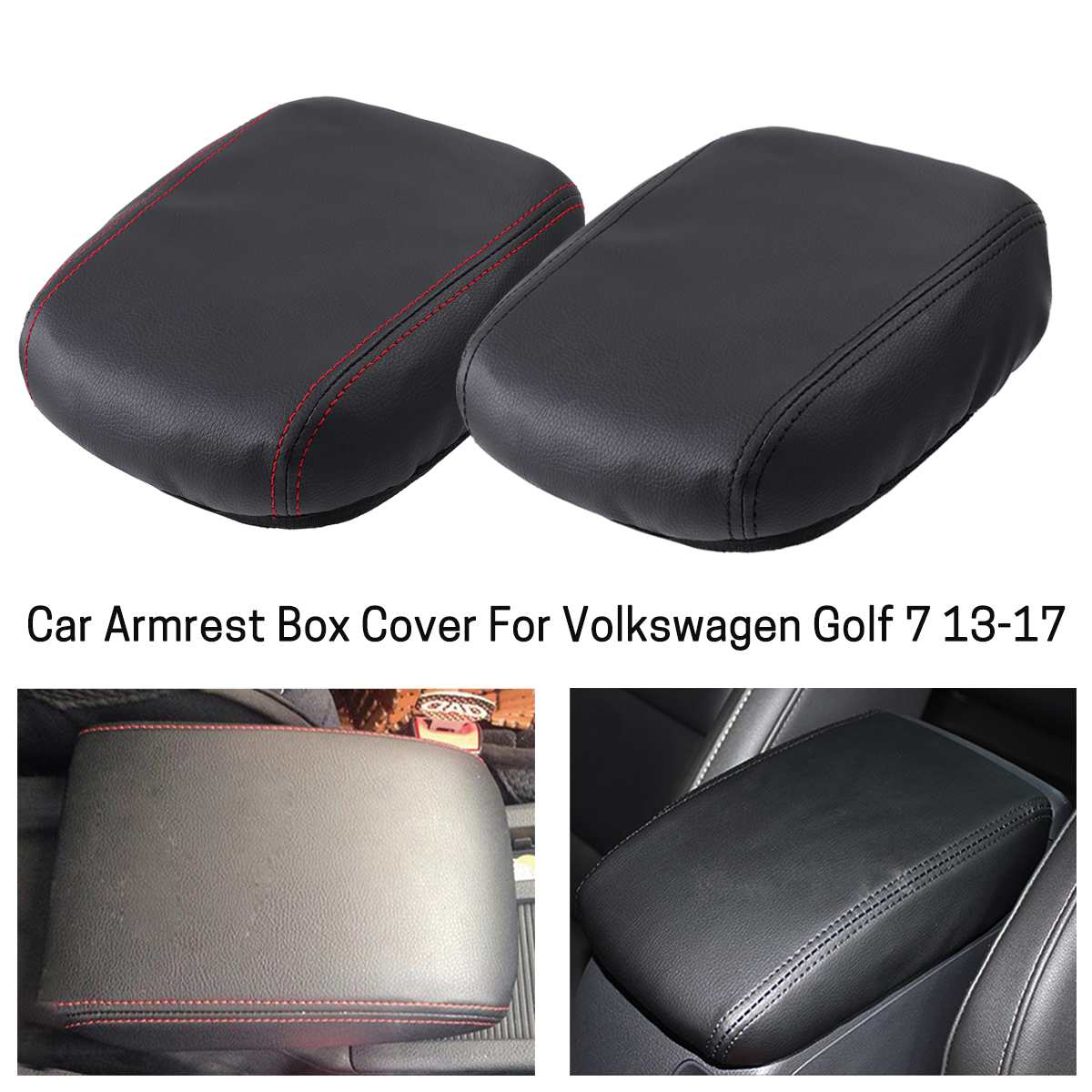 Centre de cuir Accoudoir Console accoudoir Cover Couvercle couvertures Bouchons