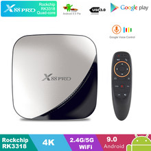 Google TV Box Android 9.0 H96 MAX Rockchip 4G 16 GB 32 GB 64 GB ANDROID TV BOX 2.4 /5.0G Wifi Bluetooth 4.0 4 K 3D IPTV Android Box(China)