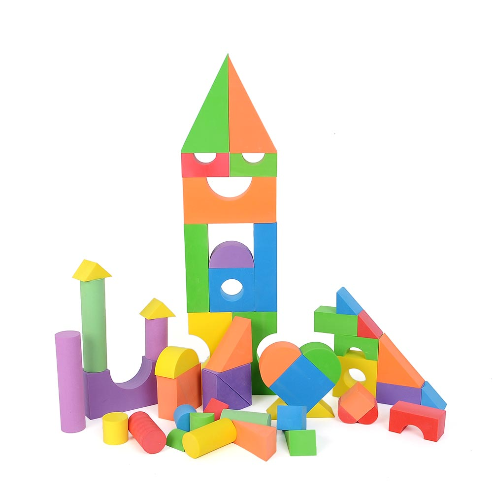 Ordinary Building With Foam Blocks #10: Creative DIY 1 Set Mix Color Building Block Brick Set Soft EVA Foam Toys  Educational Toy