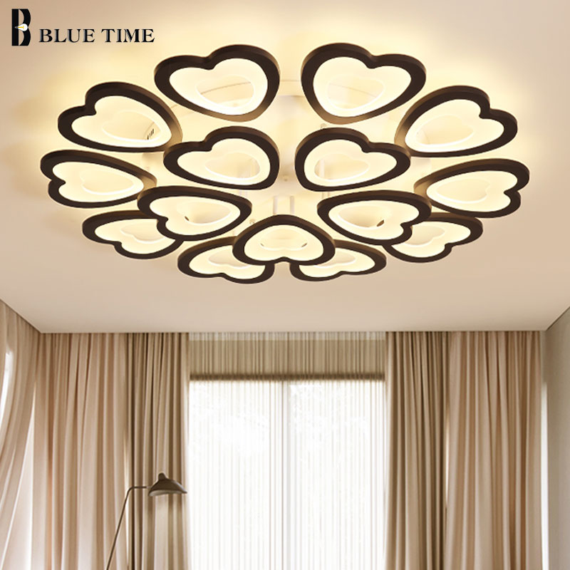 Rrmantic Love Modern LED Ceiling Lights For Living room Dining room Bedroom Acrylic Foyer White&Black Arms Body Led Ceiling LampRrmantic Love Modern LED Ceiling Lights For Living room Dining room Bedroom Acrylic Foyer White&Black Arms Body Led Ceiling Lamp