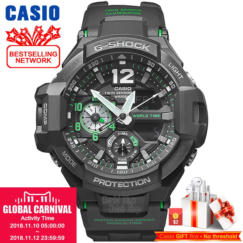 Casio watch Casual sports multi-functional waterproof men's fashion watch GA-1100-1A GA-1100-1A3 GA-1100-2A GA-1100-2B casio ga 110hc 1a