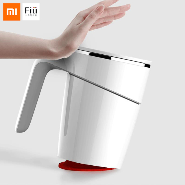 Original Xiaomi Fiu Non slip Sucker Pouring Cup 470ml 304 Stainless Stell ABS Double Insulation Cup