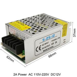 Image 3 - 電源 12 led ストリップ用 ac 220 dc 12 v ベルトトランス 10A 30A 25A 3A 2A 1.25A led ドライバ充電器降圧アダプタ