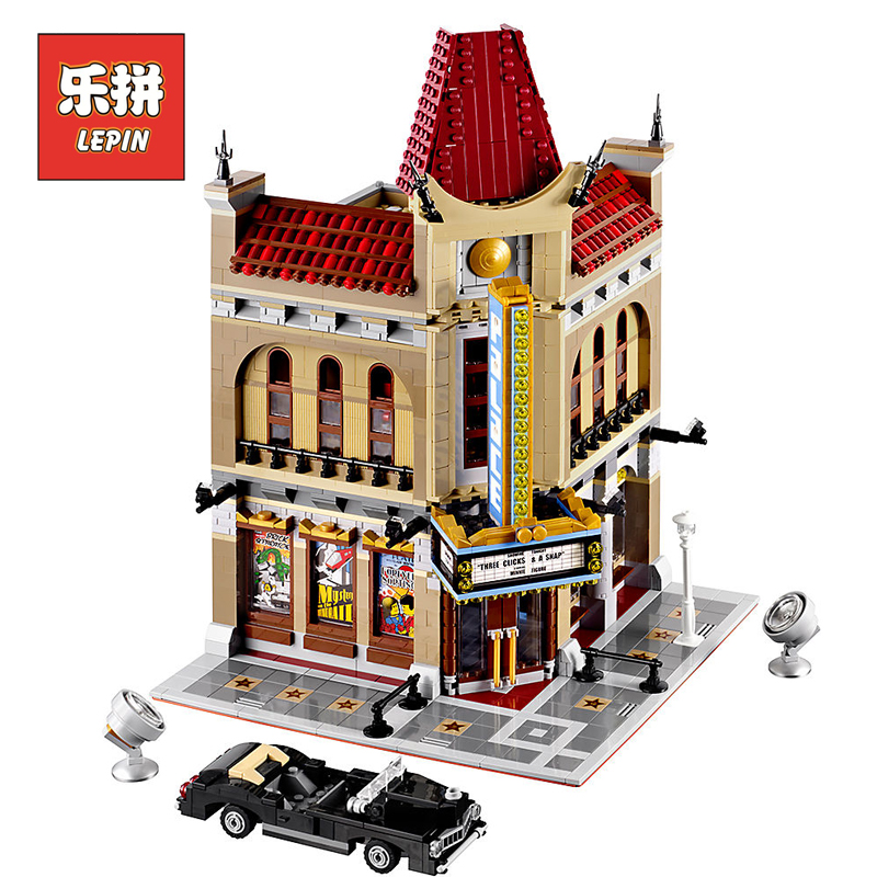 LEPIN 15006 City Palace Cinema Model Building Blocks Set Bricks Toys Compatible Legoing Creative 10232 Toys For Children Gift