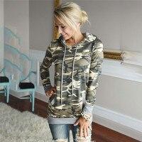 2017 Fashion Woman Autumn Winter Camouflage Hoodies Sweatshirts Casual Ladies Sweatshirts Slim Pullovers Hooded Tops KH825355