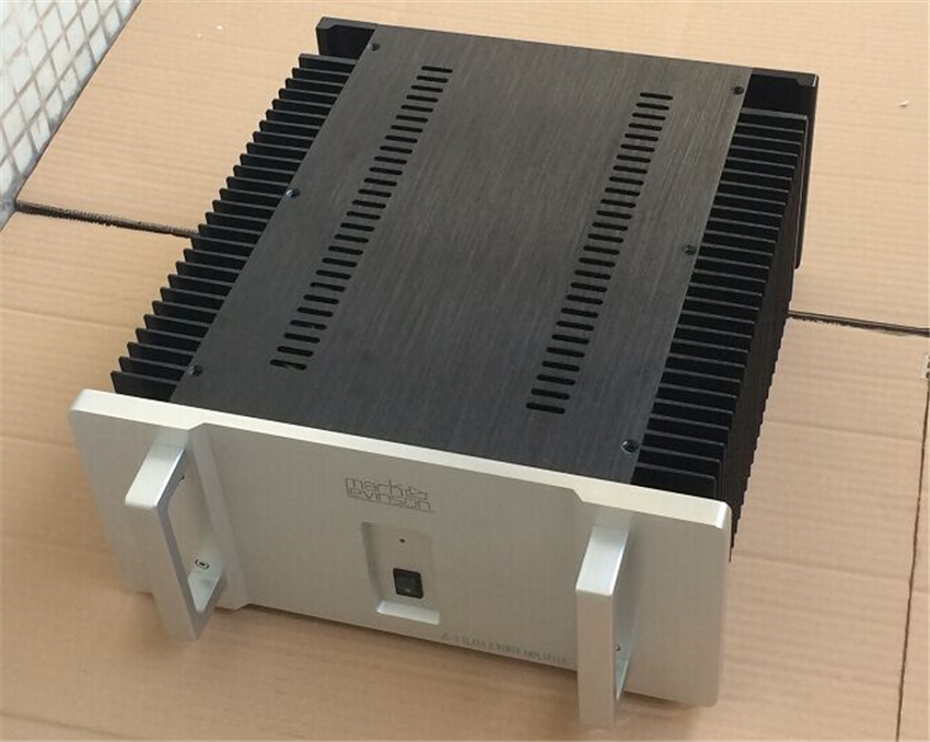 QUEENWAY CNC full Aluminum Chassis LEVINSON ML2 JC3 Power amplifier Case Box cover diy amplifier 430*311*70mm    430mm*311mm*70m