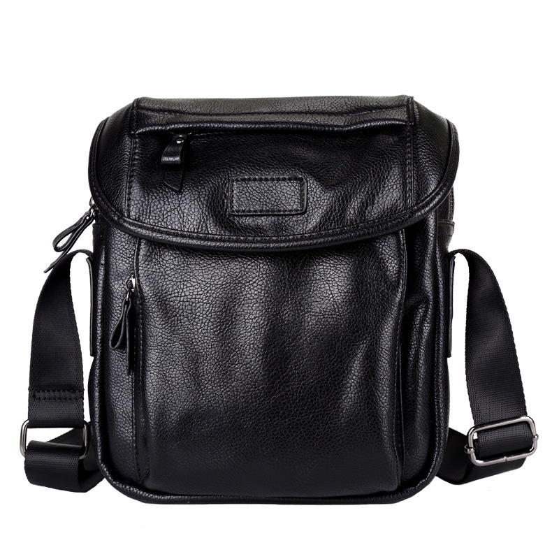 2017 new PU leather mens shoulder bag, Korean casual messenger bag, business casual small bag