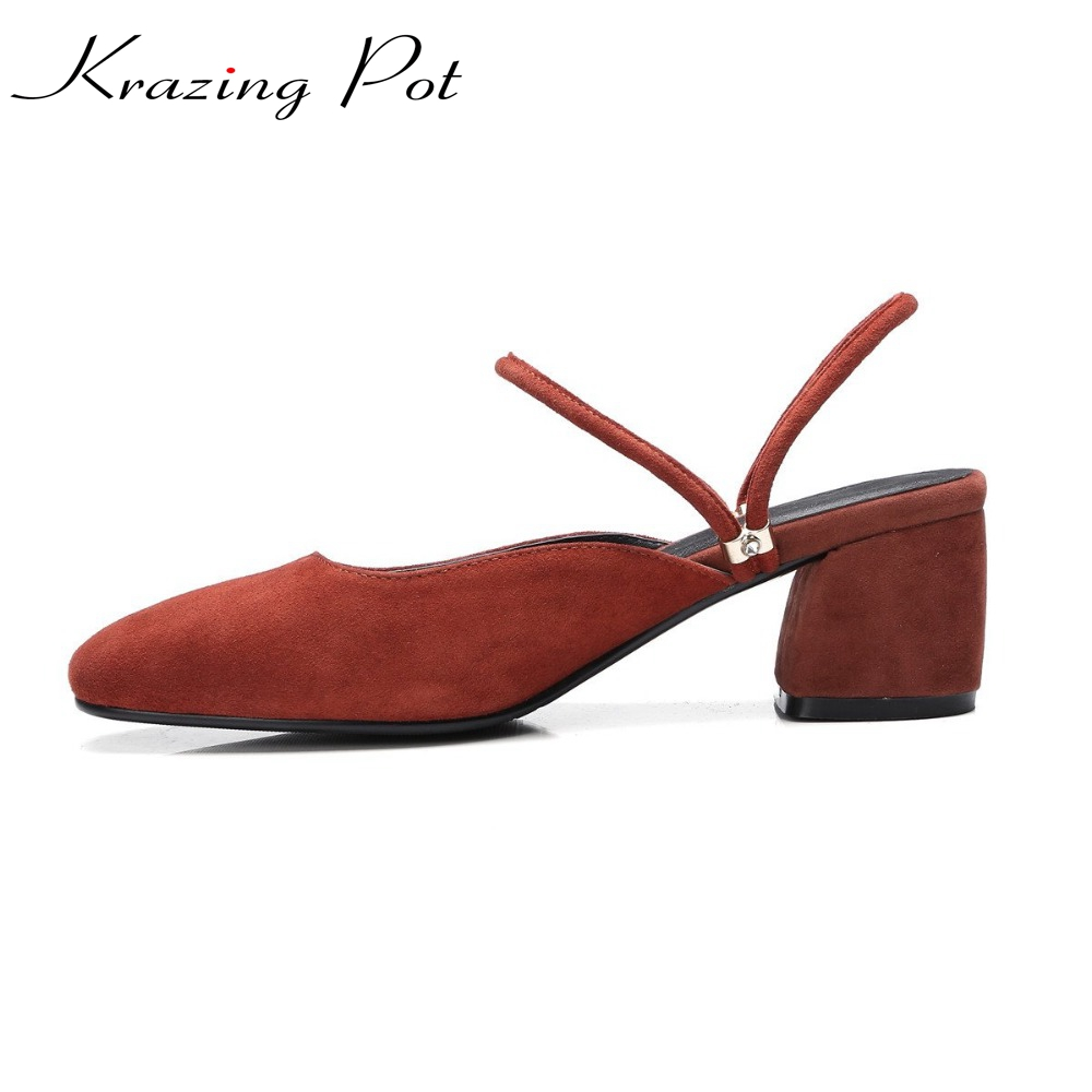 2017 Shoes women shallow fashion sheep suede round toe preppy style med heels solid sweet pumps slingback sandals young lady L22 2017 shoes women med heels tassel slip on women pumps solid round toe high quality loafers preppy style lady casual shoes 17