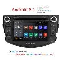 Android 8,1 dvd плеер для Toyota RAV4 Rav 4 2006 2007 2008 2009 2010 2011 2012 2 din 1024*600 автомобиля dvd gps Wi Fi rds dab tpms
