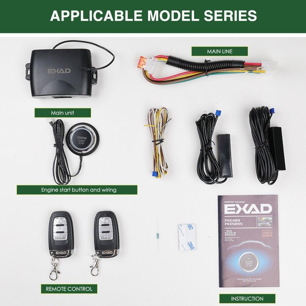 Pour Honda PKE système d'alarme de voiture intelligente avec verrouillage Central automatique passif porte de voiture sans clé entrée bouton sans clé démarrage à distance arrêt