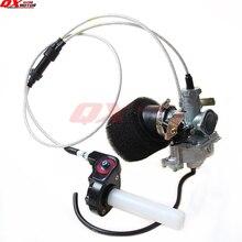 Free Shipping KEIHIN 30mm PZ30 manual choke Carburetor + Visiable Transperent Throttle Settle Cable irbis Air Filter set