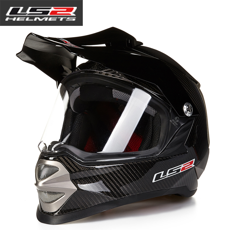 LS2 MX415 motorcycle off-road helmet carbon fiber full-covered four seasons Rally helmet off-road helmet full helmet MX429 купить в Москве 2019