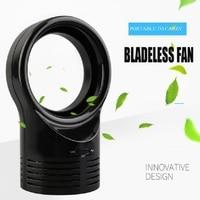 2018 Portable Bladeless Fan Mini AirFlow Cooling Fan Adjustable Wind Speed Mute Dedicated USB Fan for Home Office Home Appliance