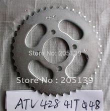 цена на motorcycle parts rear sprocket 41 tooth 428 chain for ATV
