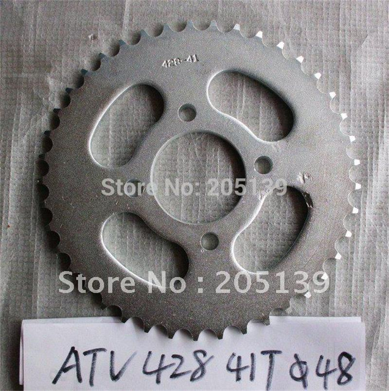 motorcycle parts rear sprocket 41t 41 tooth for 428 chain for QUAD 4x4 ATV UTV GO KART BIKE PARTS