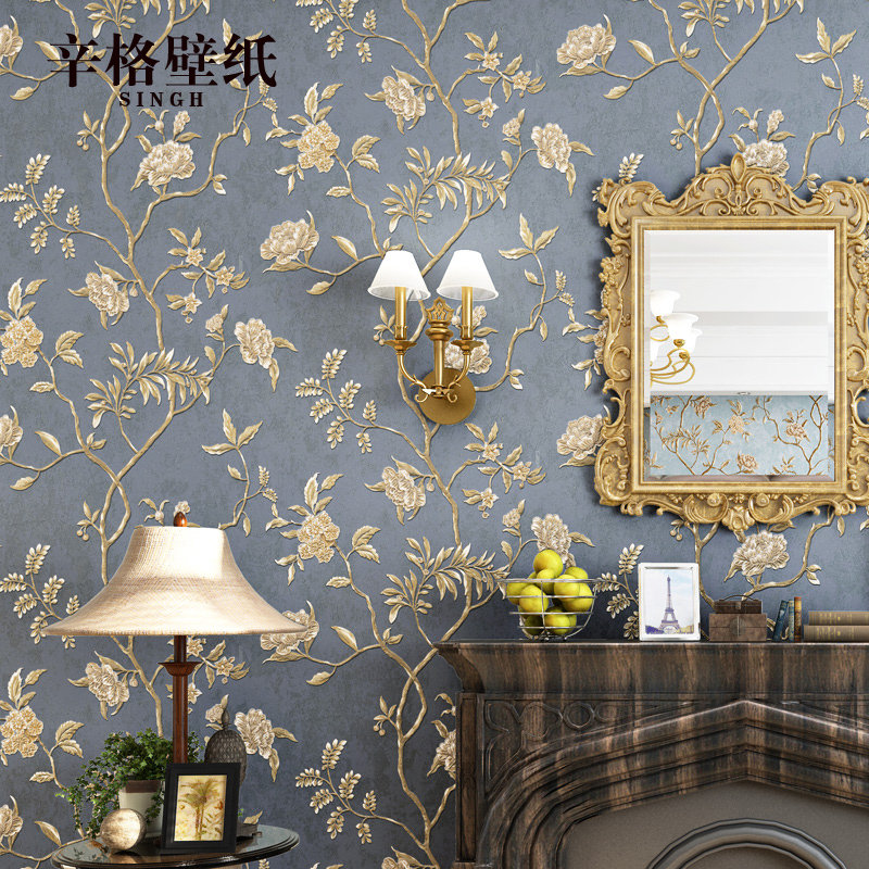 0.53x10m 3D American Village Pastoral Silk Patterns Nonwovens Wallpapers Living Room Wedding Room Bedroom Background Wallpaper0.53x10m 3D American Village Pastoral Silk Patterns Nonwovens Wallpapers Living Room Wedding Room Bedroom Background Wallpaper