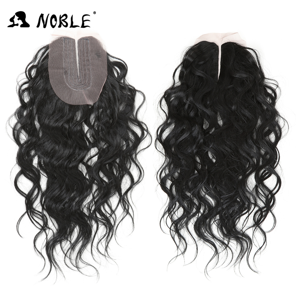 Image 5 - Noble Synthetic Hair 16 20 inch 7Pieces Black Blonde  Weaving Body Wave Hair 6 Bundles With Closure Lace For Black Women-in Synthetic Weave from Hair Extensions & Wigs