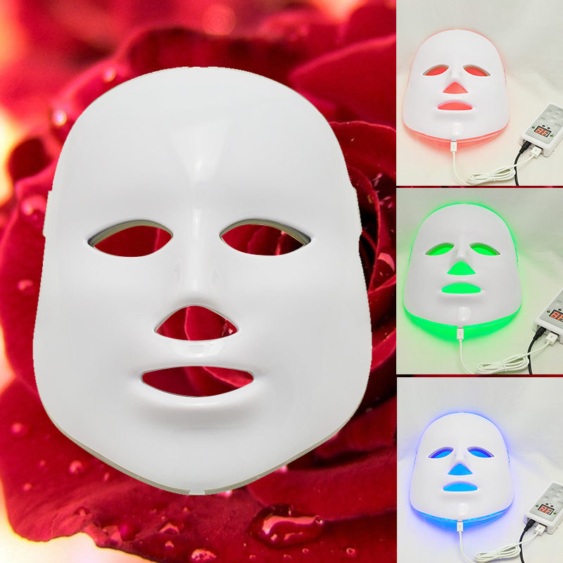 все цены на  Brand New 3 Colors Light Photon LED Facial Mask Skin Rejuvenation Beauty Therapy Beauty Instrument LED Facial Mask  онлайн