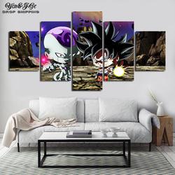 5 шт. Dragon Ball Супер анимация поп-картина мультяшное украшение для дома плакат гостиная стены книги по искусству модульная Печать на холсте