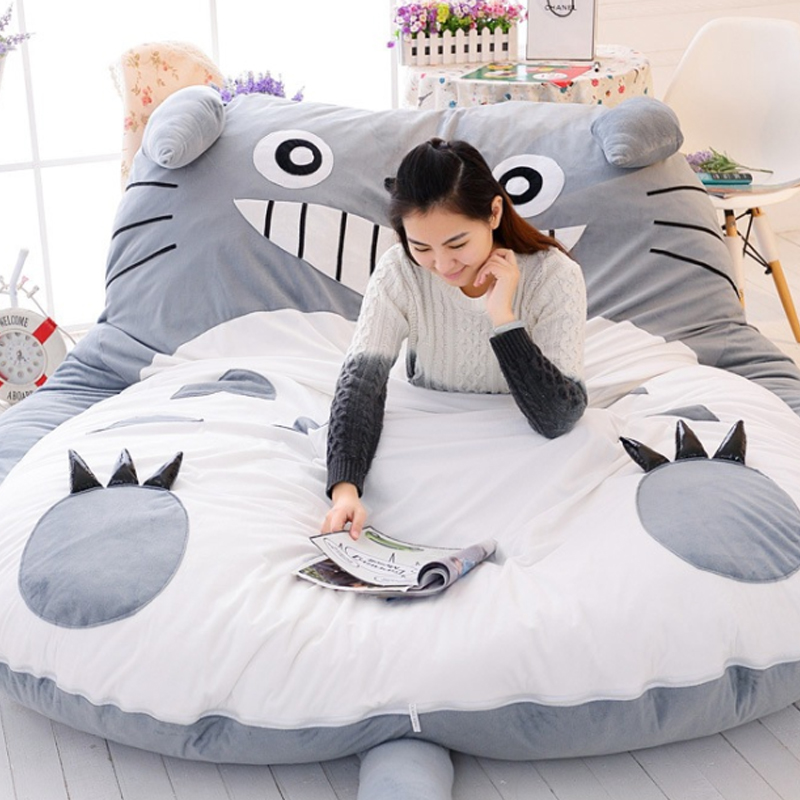 giant sleeping totoro mat totoro bed with free totoro. Black Bedroom Furniture Sets. Home Design Ideas