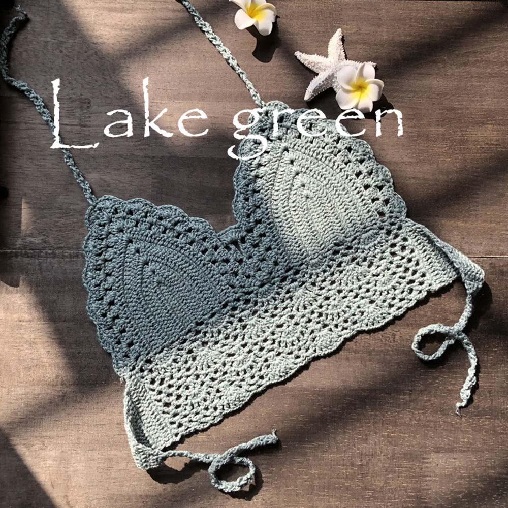 lake green crop top