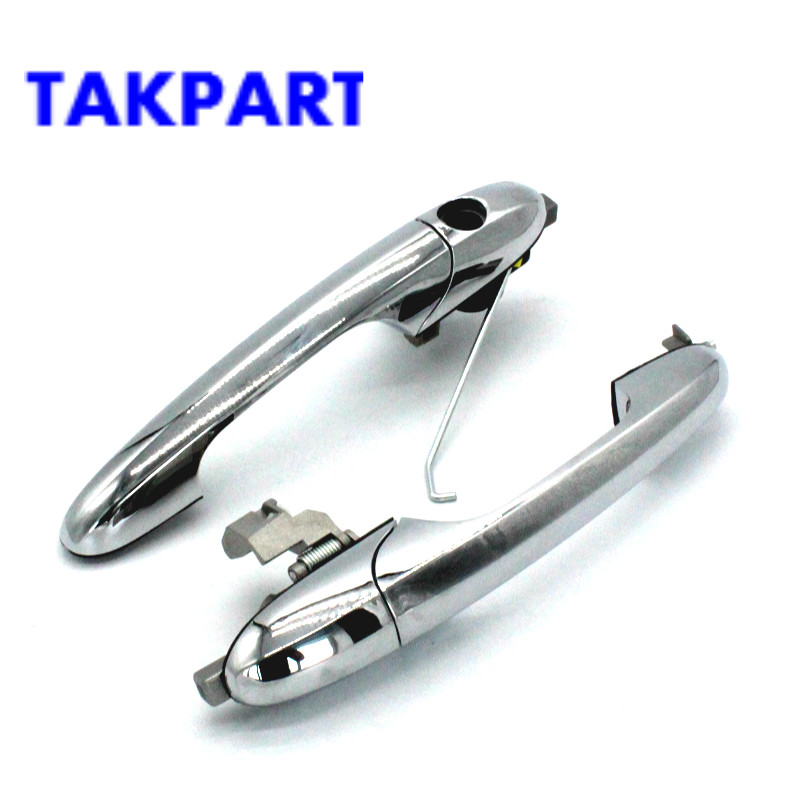 TAKPART New Outer Door Handle for Fiat 500 driver left side /passenger right side 68069943AC/ 68069942AC