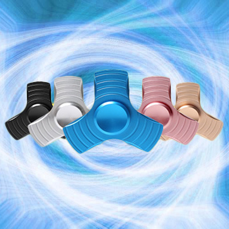 Ultimate Aluminum Alloy Fidget Spinner Trefoil Finger Hand Spinner Fidget Toys For Kids Children