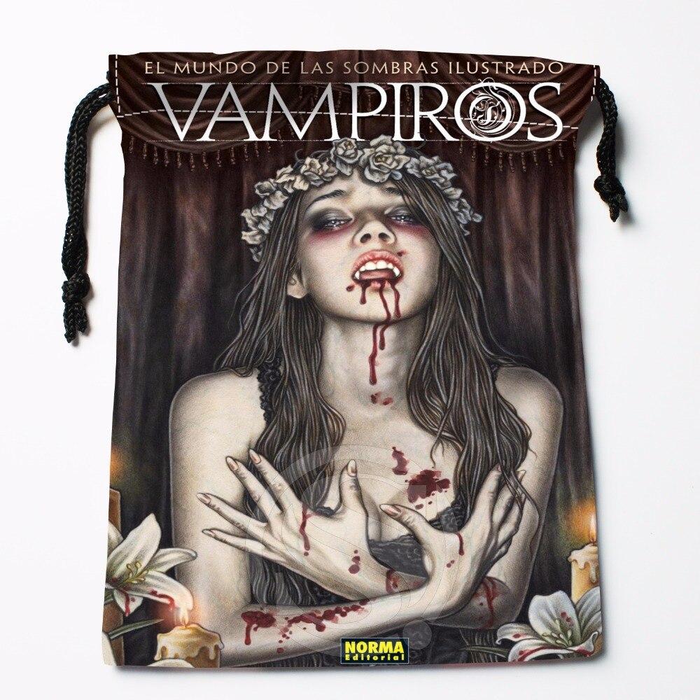 Fl-Q77 New Vampiros &3 Custom Logo Printed  Receive Bag  Bag Compression Type Drawstring Bags Size 18X22cm 711-#F77