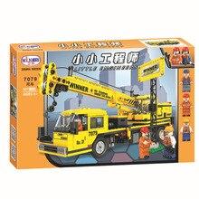 7079 507 pcs Equipe de Construção Da Cidade Guindaste Building Blocks Define Bricks DIY Modelo Educacional Crianças Presentes de Natal Brinquedo Para Crianças