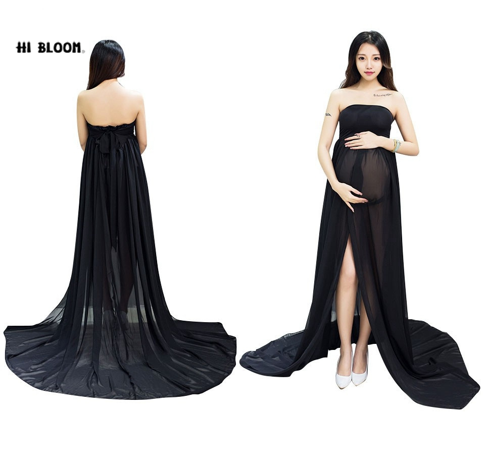 Aliexpress buy maternity dress for photo shooting black aliexpress buy maternity dress for photo shooting black white dress maternty photography props sleeveless stretch cotton long pregnant dress from ombrellifo Images