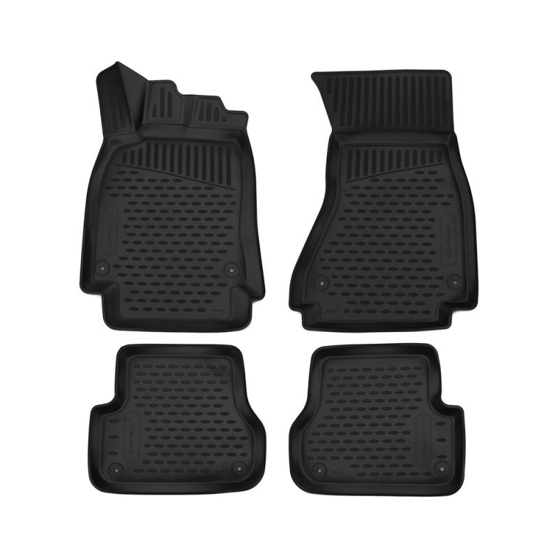 Car Mats 3D salon For AUDI A6, 2012->, sedan/without перч. Box, 4 PCs (polyurethane) 4pcs 146mm wheel center hub caps rims cover 6 holes car emblem car badge for audi fit for tt 8n0601165a free shipping