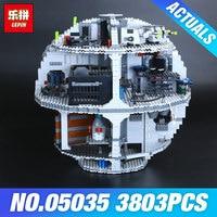 Free Shipping LEPIN 05035 Star Wars Death Star 3804pcs Building Block Bricks Toys Kits Minifigure Compatible