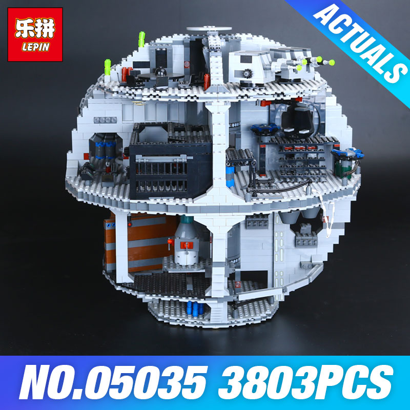 Lepin 05035 Star Set Wars Death Star 3804pcs Building Block Bricks Toys Kits Compatible with 10188 Children Educational DIY Gift lepin 05037 star wars ucs slave i slave no 1 model 2067pcs minifigure building block toys 100