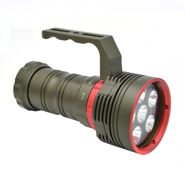 6000LM 30W Rechargeable Flashlight LED Professional Diving Searching Lamp Super Bright Torch Outdoor Emergency Night Lamp