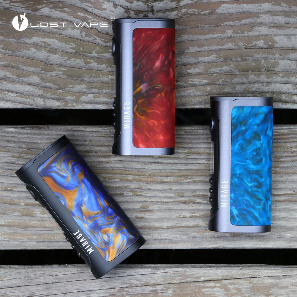 New Original Lost Vape Mirage TC Box Mod with Max 75W Advanced DNA 75C Chipset No 21700/20700/18650 Battery Box Mod Vs Drag Mod used good condition mod no 503 ser no 2097014 with free dhl ems