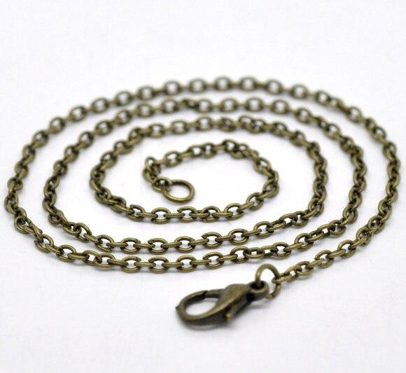 8 сезонов 12 бронзовый тон Омаров застежка цепи ожерелья 2x3 мм 18