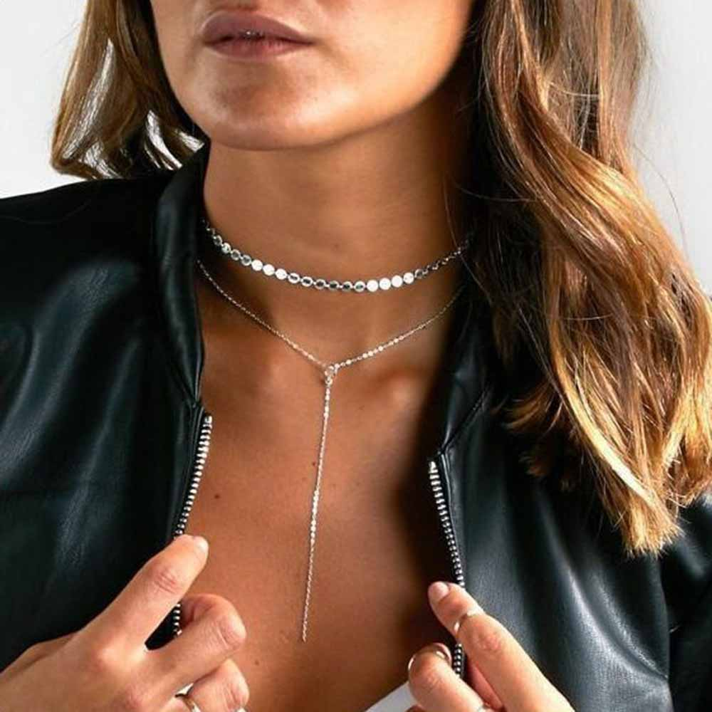 KISS WIFE New sexy fashion sequins chain necklaces
