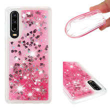 Shining quicksand TPU anti-fall Love Heart phone case is suitable for Huawei P30